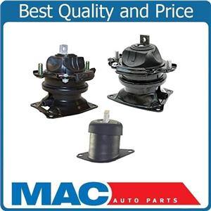 Front & Rear Electronic Engine Mount 3Pc Kit for Honda Accord 08-12 V6 3.5L