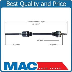 CV Drive Axle Shaft For All Wheel Drive Town & Country Passengers Side Front