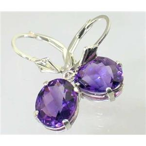 SE107, Amethyst, 925 Sterling Silver Earrings