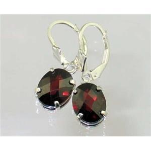 SE107, Mozambique Garnet, 925 Sterling Silver Earrings