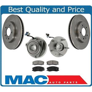 100% New Front WHEEL BEARING HUB ROTORS & PADS for 12-2015 Chevy Captiva Sport