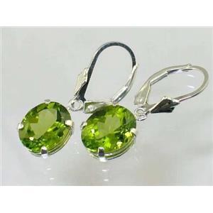 SE107, Peridot, 925 Sterling Silver Earrings