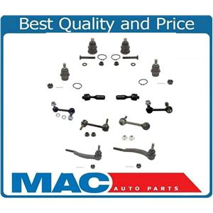 16MM Buick Chevy Ball Joints Inner Tie Rods Sway Bar links 12 PC suspension kit
