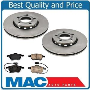 For 95-98 Audi A6 A6 QUattro New  288MM Front Brake Disc Brakes Rotors Pads Kit