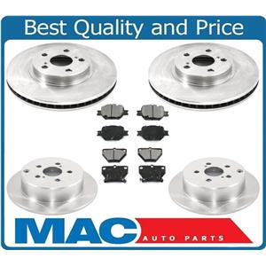 Front & Rear Brake Disc Rotors & Premium Pads For 02-05 GTS GT & Celica