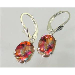 SE107, Twilight Fire Topaz, 925 Silver Earrings