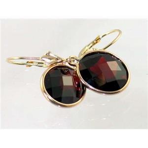 E201, Mozambique Garnet, 14k Gold Earrings