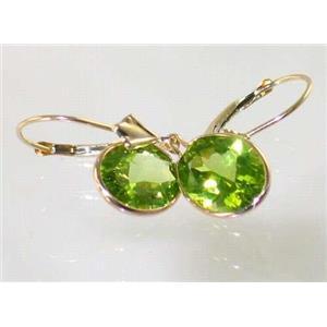 E101, Peridot, 14k Gold Earrings