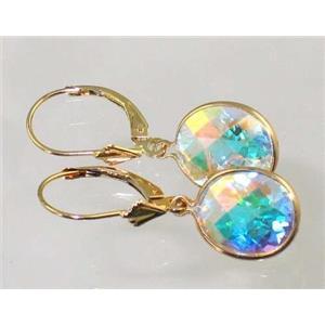 E201, Mercury Mist Topaz,14k Gold Earrings