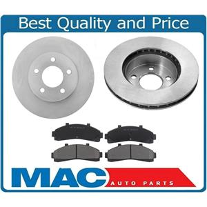 Front Brake Rotors & Ceramic Pads For 1998-2002 Ford Ranger 4 WHEEL DRIVE ONLY!