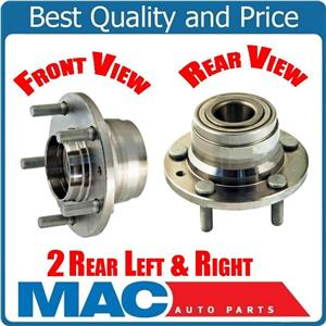 2 REAR WHEEL BEARING AND HUBS for 00-01 Mazda MPV Van Without ABS REAR
