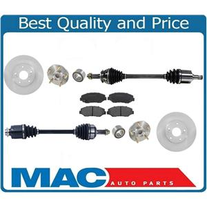 Front Axles Wheel Hub Kits Ceramic Pads & Rotors For ELEMENT 03-11 7pc