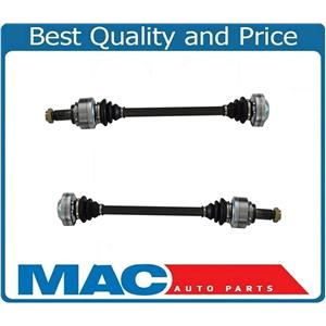 (2) 100% New for BMW X5 00-06 Automatic Transmission Rear CV Shaft Axles