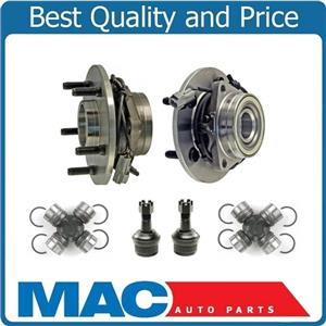 for 00-01 Ram 1500 4 Wheel Drive 4 Wheel ABS 2 NEW Front Hub Bearing U Joints