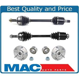 Front CV Axles & Wheel Hub Kit For Acura TL 3.2L Automatic Transmission 04-06
