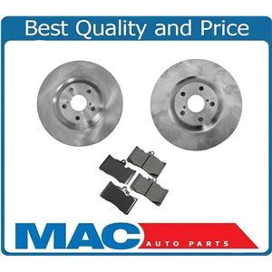 (2) Front Brake Rotors & Ceramic Brake Pads for Lexus 2009-2011