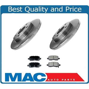 Rear Brake Rotors & Ceramic Brake Pads For Pontiac Grand Prix 2004-2008 3Pc Kit