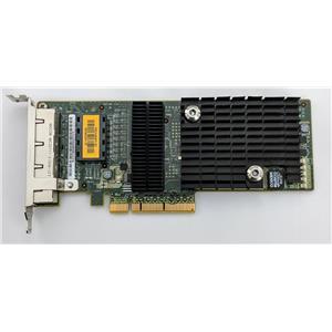 Sun Micro ATLS1QGE PCIe Quad Port Network Adapter 501-7606 Tested Low Profile