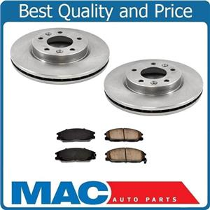 (2) Front Brake Rotors & Ceramic Pads for Kia Sedona 2002 To 11/30/2003