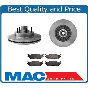 3Pc Front Brake Rotors Kit With CERAMIC Pads for Ford 04-06 E150 Van 4.6L 5.4L