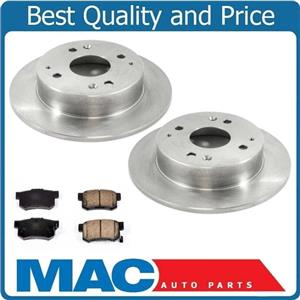 100% New Rear Brake Rotors With Ceramic Brake Pads for Acura CL 1998-1999