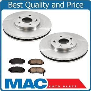 Front Disc Brake Rotors and Ceramic Brake Pads for Acura TSX 2004-2010