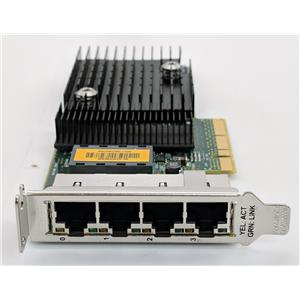 Sun Micro ATLS1QGE PCIe Quad Port Network Adapter 511-1422 Tested Low Profile