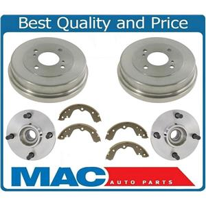 Rear Wheel Hub Bearings Drums & Shoes For Nissan Altima 93-01 W/O Rear ABS