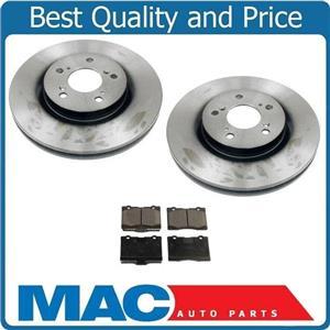 100% New Front Disc Brake Rotors & Ceramic Pads For Acura RL 3.5L 3.7L 05-12