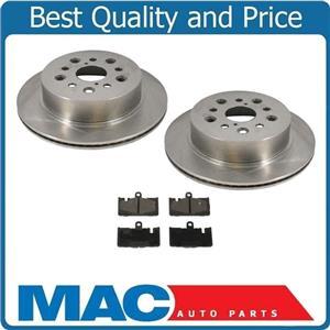 for Lexus LS430 01-06 Rear Brake Disc Rotor Rotors & Ceramic Pads 3pc
