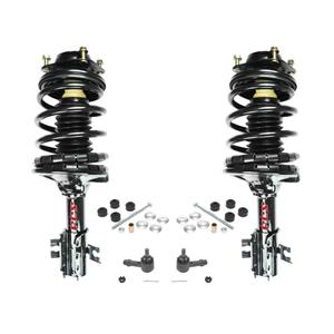 97-02 Escort 97-99 Tracer (2) Front Quick Spring Strut & Mount Tie Rods Sway Bar