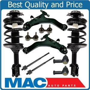 Front Complete Struts Sway Bars Control Arms Tie Rods for Hyundai Elantra 01-06