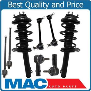 Front Coil Spring Strut Mount Sway Bar Links Tie Rods For 08 Ford Focus 83 84