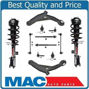 New Front Complete Strut & 10 Pieces Chassis kit Fits Chrysler 200 Dodge Avenger