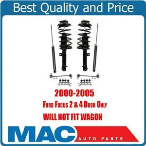 Front Complete Struts Rear Shocks & Sway Bar Links Focus 2.0L 00-05 No Wagon