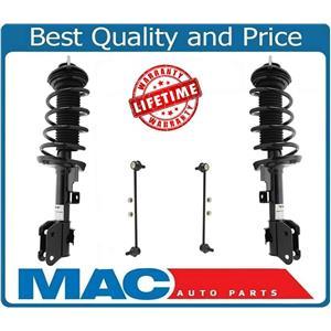 (2) Front Complete Strut Assembly & Sway Bar Links For 11-15 Honda Odyssey