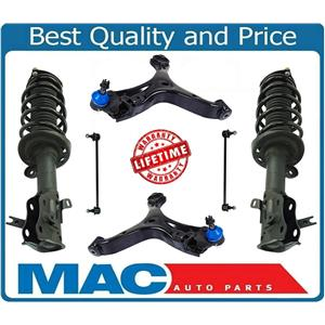 Front Struts Control Arms W/ BJ Links Fits Honda Civic 2012-2015 Coupe 2 Door