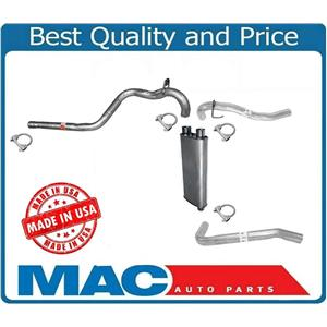Dual Outlet Pipes Muffler & Extension Pipe System For 1998-2002 Camaro 5.7L