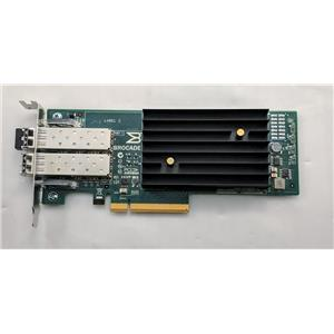Brocade 1020 BR-1020 Dual Port 10Gb PCI-E Adapter Low Profile Bracket w/ SFPs