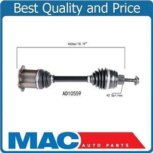 (1) 100% New CV AXLE SHAFTS For 09-11 Audi A4 A4 Quattro 4 Dr Sedan 2.0L Engine