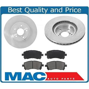 2000 Subaru Legacy & Legacy Outback 2.5L 10 7/8 Inch Front Rotors & Ceramic Pads