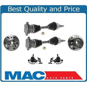 88-94 GM 4 Wheel Drive K1500 Pick Up 6 Stud Front Wheel Hubs Axles & Ball Joints