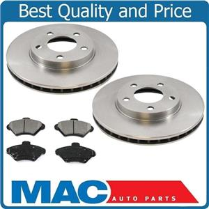 Front Brake Rotors & Ceramic Brake Pads for Ford Mustang 1994-1998 3pc Kit