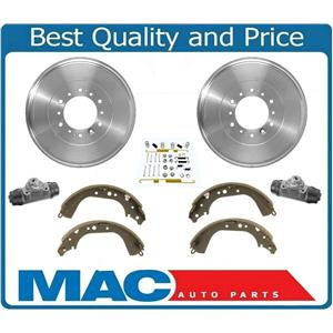 Rear Brake Drums Shoes Wheel Cylinders Hardware Kit For Toyota Landcruiser 91-94