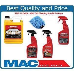 5 Pcs Kit - Mothers Brand Produtcs Soap Tire & Interior Car Cleaner/Detailer