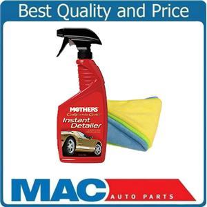 Mothers California Gold Instant Detailer Spray 16 FL OZ & 3 Microfiber Towels
