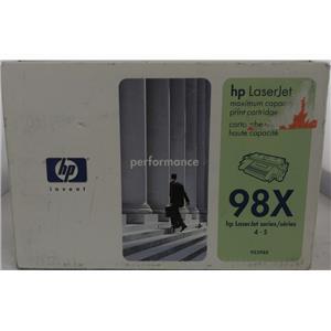 Brand New HP LaserJet 98X Black High Capacity Toner Cartridge 92298X