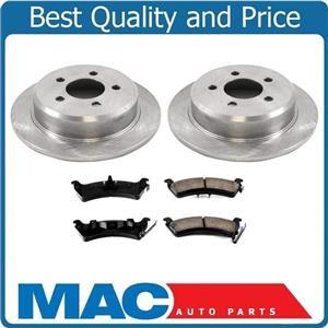 100% New Rear Disc Rotors & Ceramic Brake Pads for Jeep Grand Cherokee 93-98