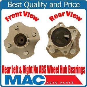 REAR (2) Hub and Bearing Hub Assembly NO ABS for Toyota Echo No ABS 2000 to 2005
