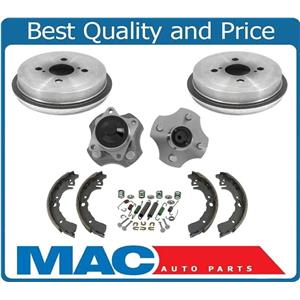 REAR Hub and Bearing Hub Assembly NO ABS Drums Shoes 6pc for Toyota Echo 00-05